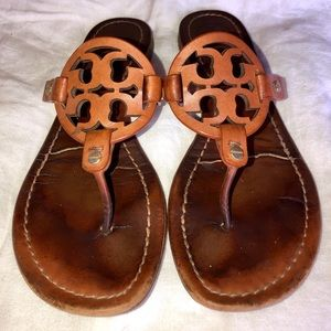 """Tory Burch """"Miller"""" Tan Leather Size 8"""
